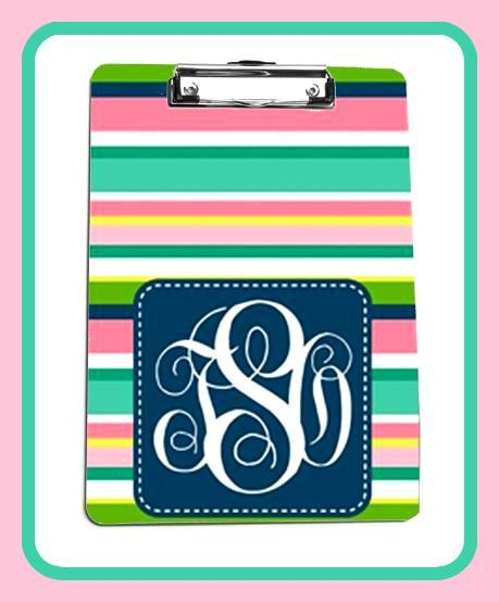 Monogrammed Clip Board Monogrammed Clipboard by ChicMonogram, $30.00