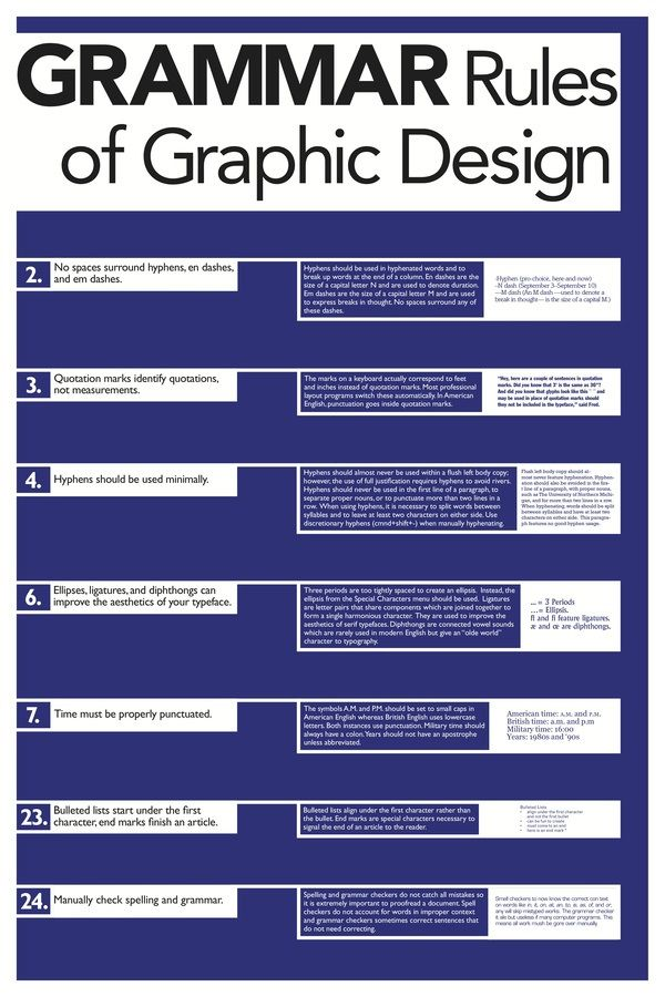 Grammar Rules of Graphic Design - I love that there are ...