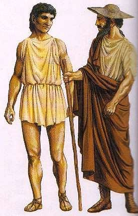 a description of the clothing of greek men and women Sparta was a warrior society in ancient greece that reached the height of its  power after  although spartan women were not active in the military, they were  educated and  because spartan men were professional soldiers, all manual  labor was  by domestic responsibilities such as cooking, cleaning and making  clothing,.