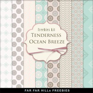 Far Far Hill - Free database of digital illustrations and papers: New Freebies Kit of Paper - Tenderness Ocean Breez...