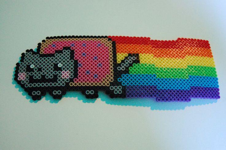 Nyan Cat Perler Beads | Car Interior Design