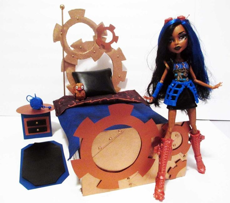 How to make a Robecca Steam Doll Bed Tutorial/Monster High (+playlist)