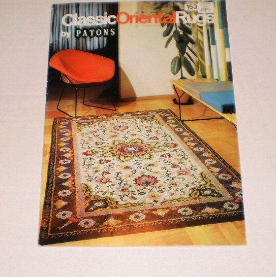 Vintage Classic Oriental Rugs By Paton, Rugmaking Pattern Book, 12 Classic Oriental Rugs & Colour Charts, Re-Create Traditional Patterns by TheShoppingMoll on Etsy