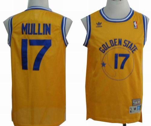 56bdde818ca Chris Mullin Golden State Warriors Soul Swingman Throwback Jersey Golden  State Warriors 17 Chris Mullin yellow throwback jersey 19.5 ...