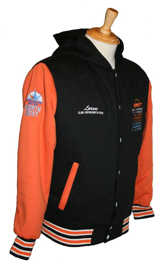 The Swimwest Swim Club Awards jacket which not only looks great but can be added to each time a new award/recognition is reached - what a great idea!