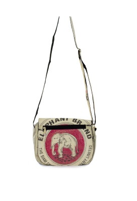 Look at this lovely Fikay Eco Fashion hand bag. Made from recycled soft cement bag material. #ecofashion
