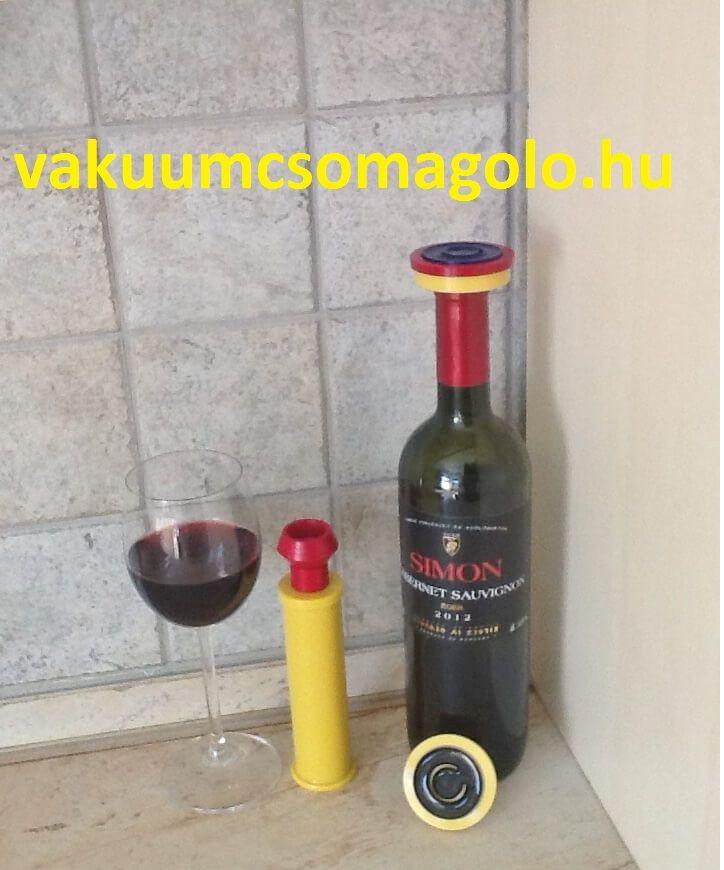 a felbontott bor tárolása vákuumozva