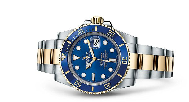 Montre Rolex Submariner Date : Rolesor jaune– combinaison d'acier904L et d'or jaune 18ct – 116613LB