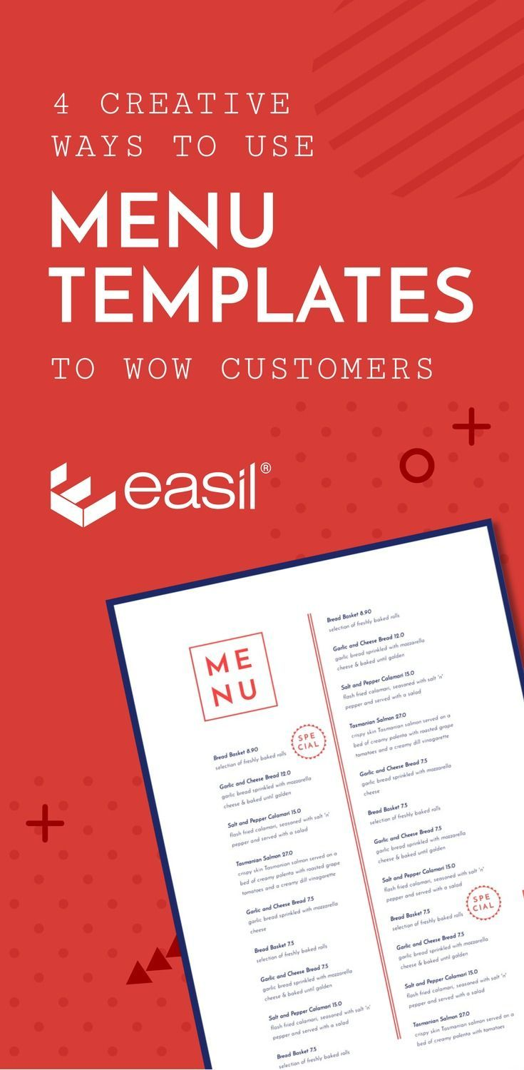 4 Creative Ways To Use Menu Templates To Wow Customers Menu Template Menu Design Template Restaurant Promotions