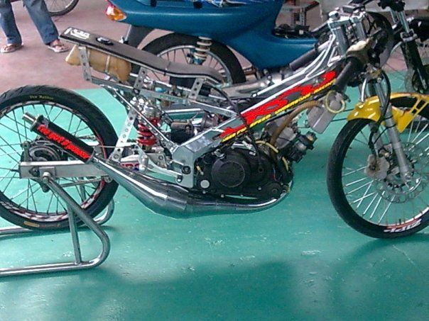 motor modifikasi drag terpopuler