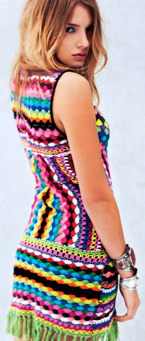 knit sweater dress hippie boho Womens Bohemian Fashion Unique Style Inspiration Urban Apparel #UNIQUE_WOMENS_FASHION