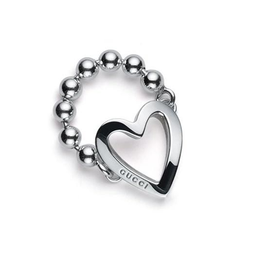 Gucci Heart Toggle Ring. Free shipping and guaranteed authenticity on Gucci Heart Toggle RingThis gorgeous Gucci ring is in pure .925 silver.      Tradsey  125.00.