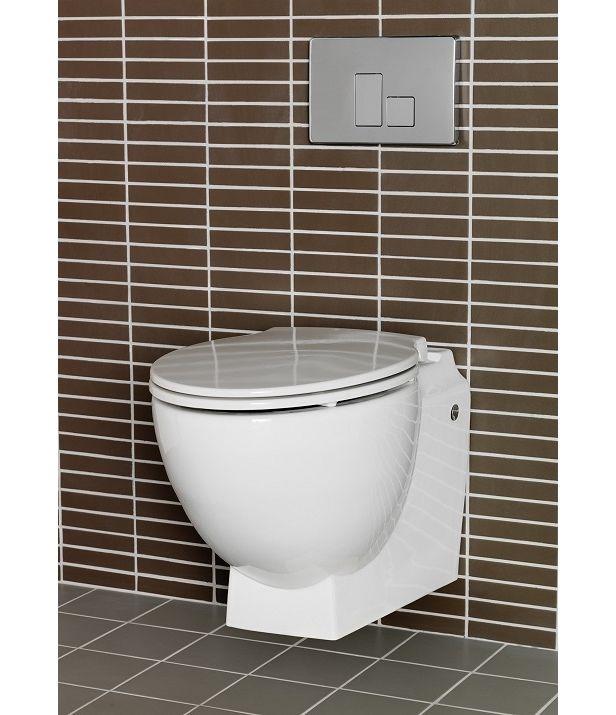 1273307 Hafa  Hafa Relax U Toalettpakke Inkl. lokk, sisterne og trykkpl. i Hvit