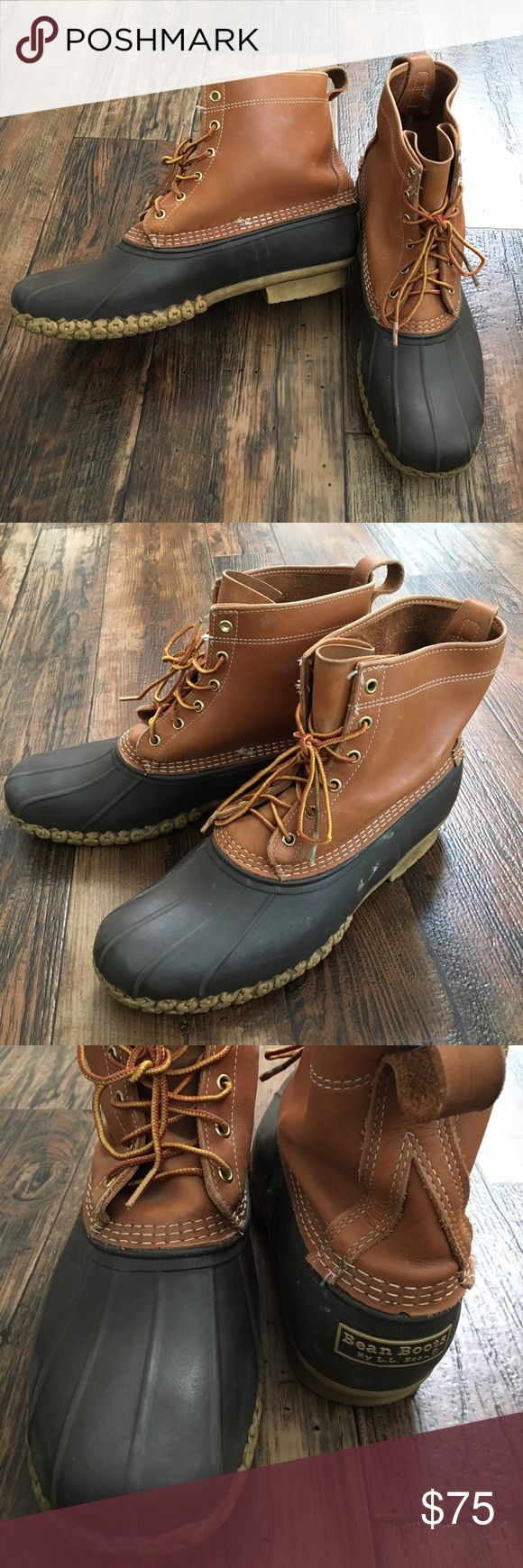 """Classic LL Bean Maine Hunting Duck Boots Sz 13 Classic LL Bean """"Bean Boots""""   Men's Sz 13  In great condition.  2 tone- rubber bottom, leather upper boots  Retail is $120 L.L. Bean Shoes Boots"""