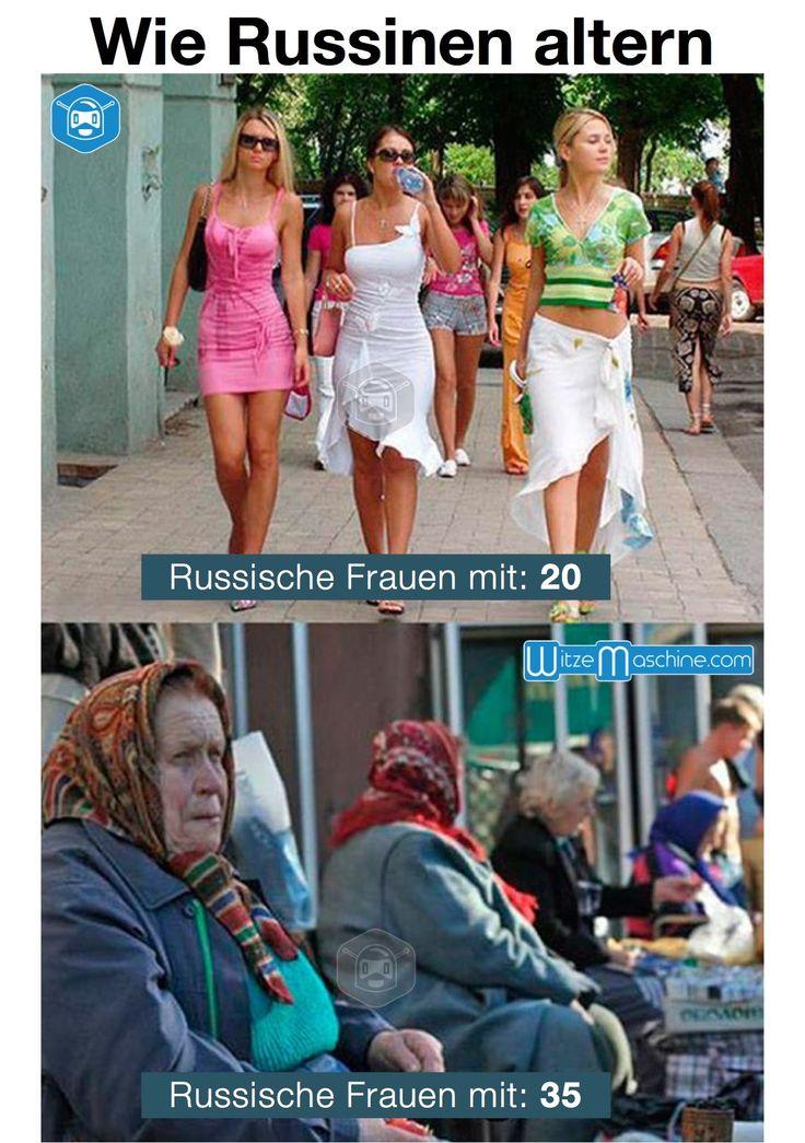 Wie russische Frauen altern - 20 und 35 - Russenwitze - Funny Russian Fail