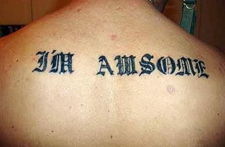 10 Misspelled Tattoos - 10 reasons I will never get a phrase or name tattooed on me.