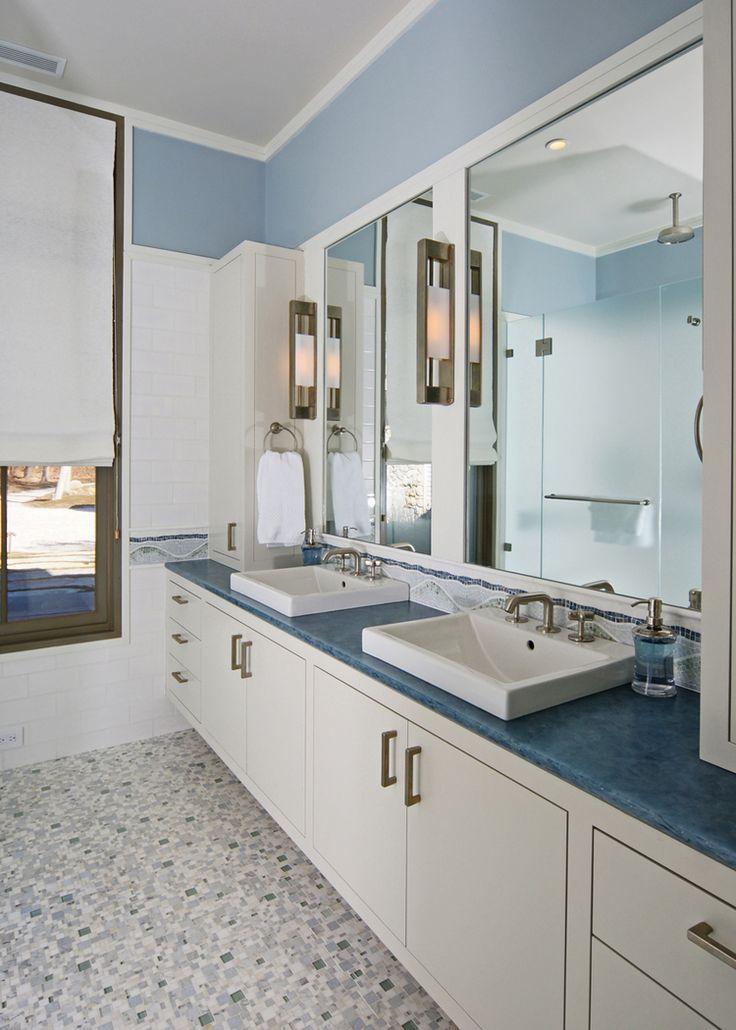 blue countertop
