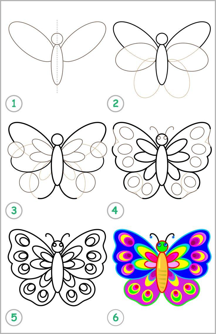 Så ritar du en fjäril i 6 steg