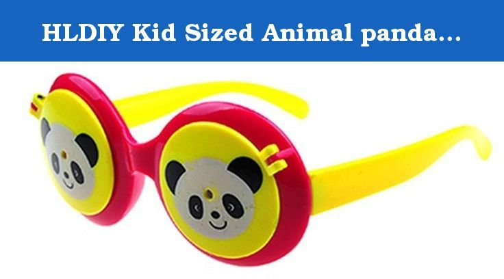 HLDIY Kid Sized Animal panda Double Flip Round Anti-UV Sunglasses. This glasses is designed for Kids outdoor activities. Your kids will love wearing these Sunglasses at beach parties, pool parties, and summer parties.