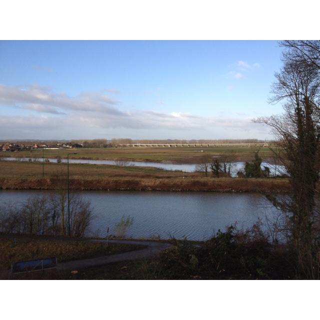 Zicht op Grens NL - BE bij Elsloo