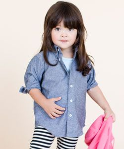 American Apparel: Fashion, American Apparel, Girl, Sleeve Button Down, Long Sleeve, Baby, Apparel Kids