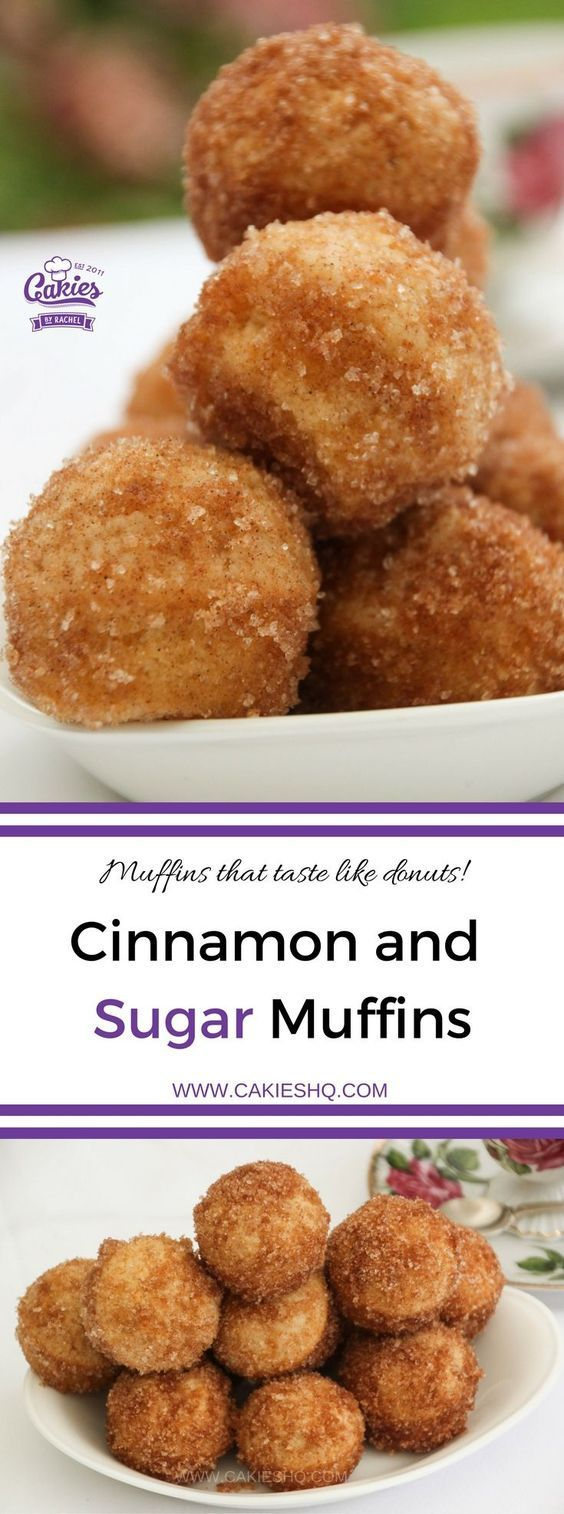 These Cinnamon and Sugar Muffins really taste like donuts. An easy recipe, I love making them as mini cinnamon and sugar muffins.