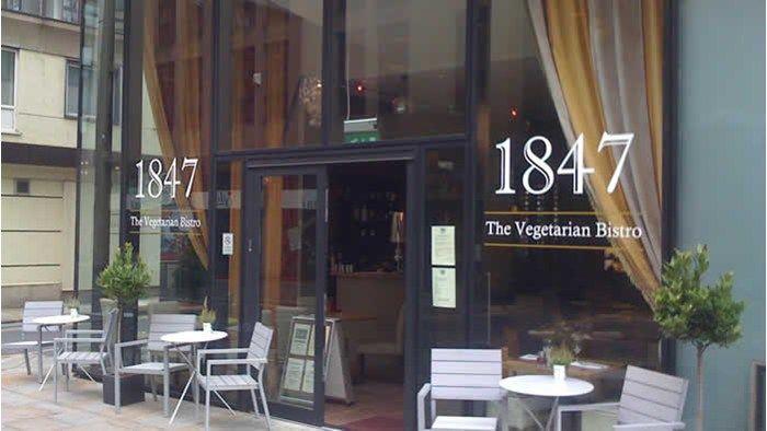 1847 Bistro - Located opposite Manchester Art Gallery, 1847 Bistro is a vegetarian bar and restaurant.