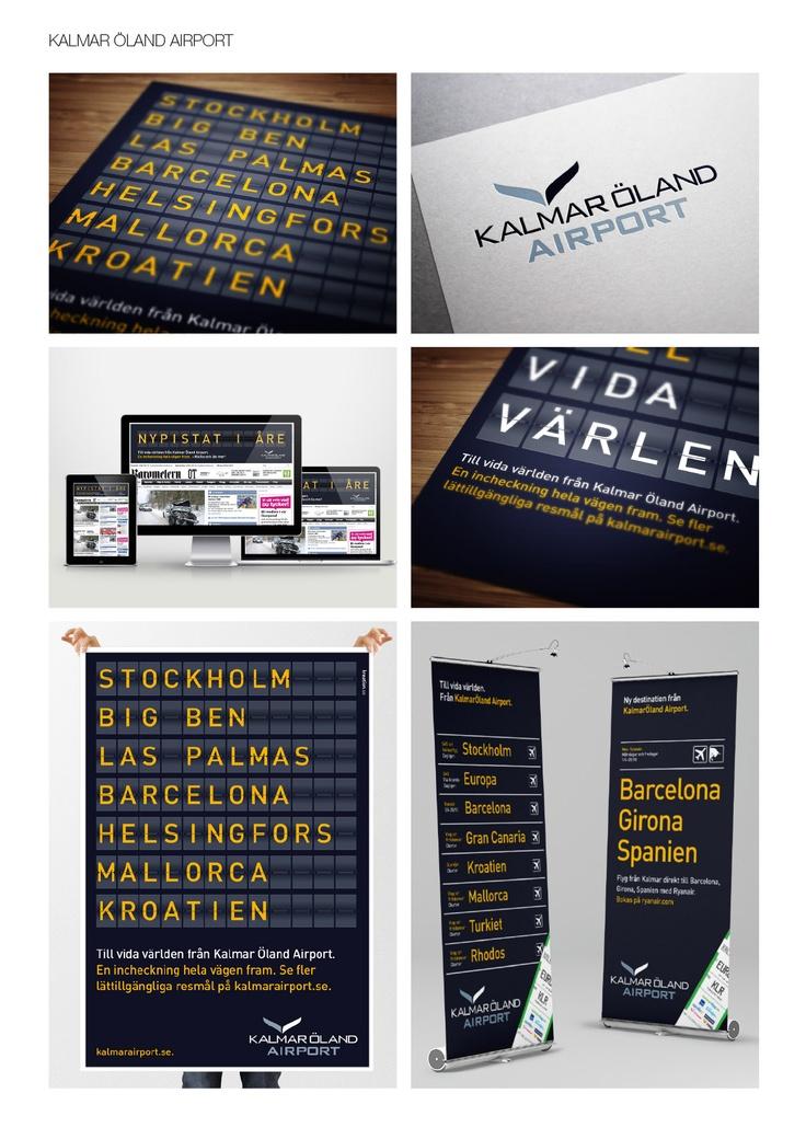 Kampanjdelar och grafisk profil för Kalmar Öland Airport.