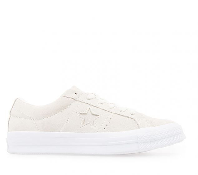 Converse Womens One Star Suede   Egret/White   Platypus Shoes