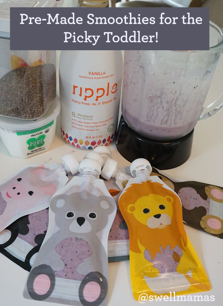 From the Swell Mamas kitchen. Ripple Pea Milk ideas. Can be dairy free! No added sugar. A simple recipe for making smoothies ahead. Premade nutritious and healthy smoothies for texture avoiding kids and picky eaters. Toddler friend kid recipes. Reusable food pouches. www.swellforever.com