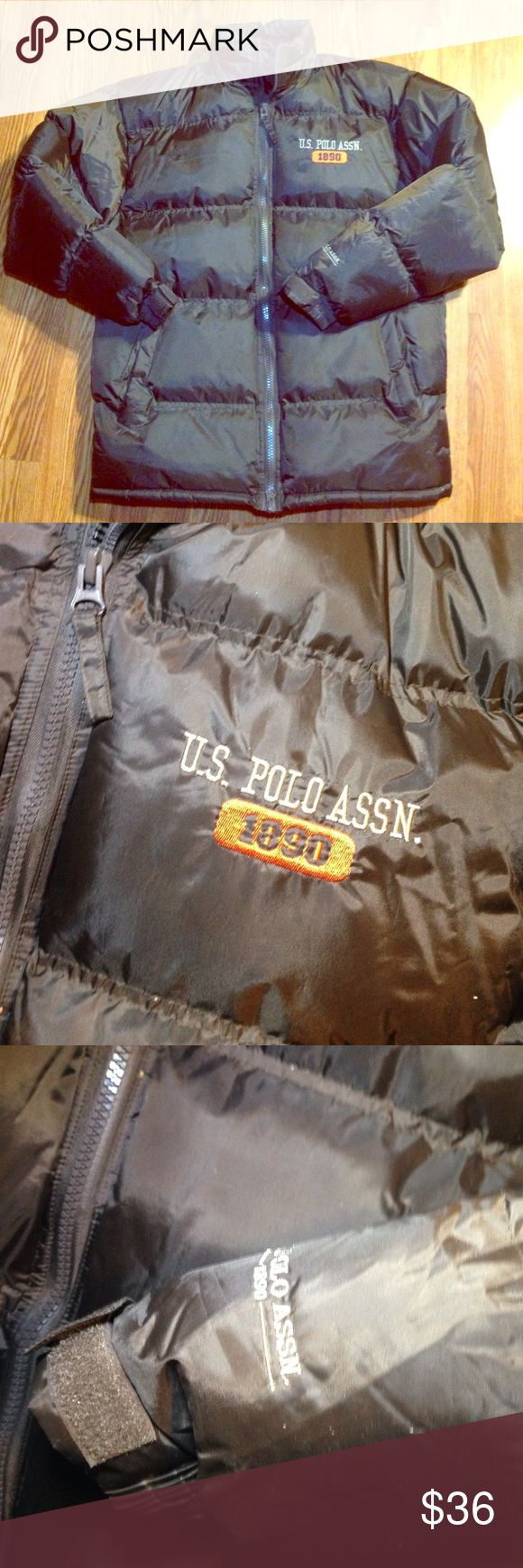 NWOT mens U.S. POLO puffer Coat size small brown NWOT mens U.S. POLO puffer Coat size small brown Nice feature inside coat no hood U.S. Polo Assn. Jackets & Coats Puffers