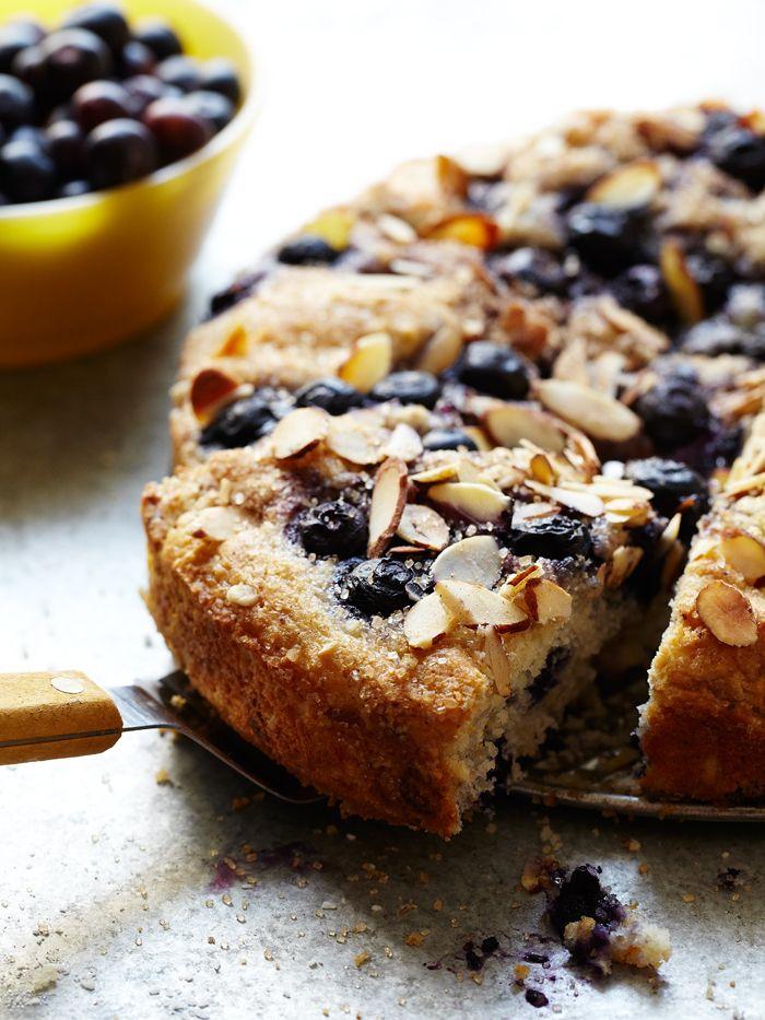 Blueberry Streusal Almond Coffee Cake Blauwe bessen amandel koffie cake