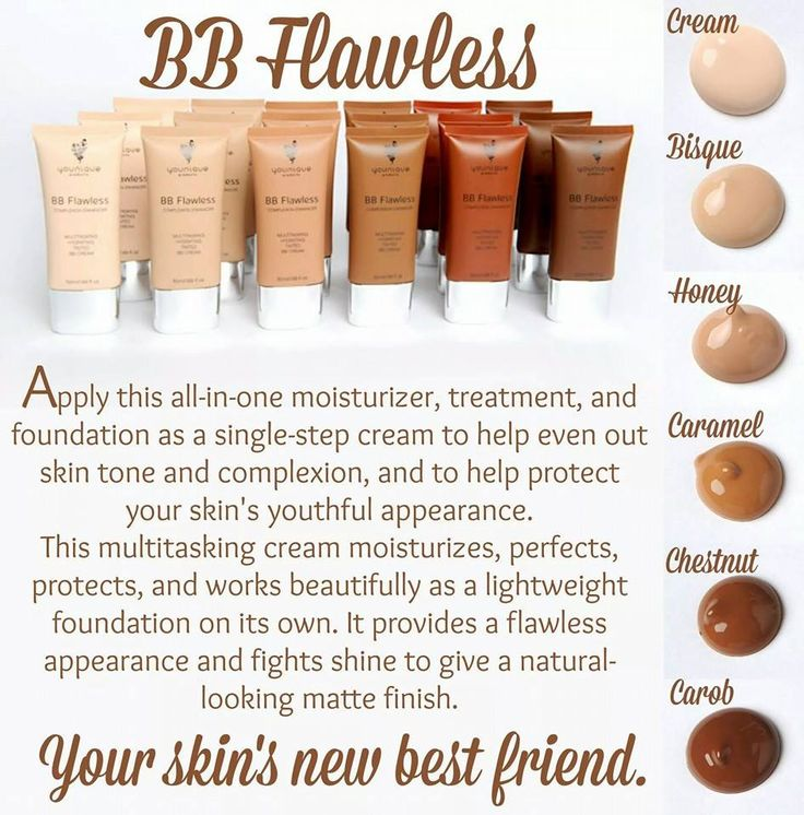 Younique's BB cream is amazing! Tinted moisturizing cream. Use as a base or use as a light weight foundation. www.youniqueproducts.com/vickiadams/products/view/US-21600-00#.VvuYJvB4WK0