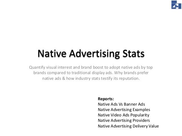 Native Advertising Statistics by Pallab Kakoti via #slideshare from #Pallab_Slides featuring #Pallab_BlogSpot -- http://pallab-kakoti.blogspot.in/2014/09/correlation-of-nativeads-with-content.html