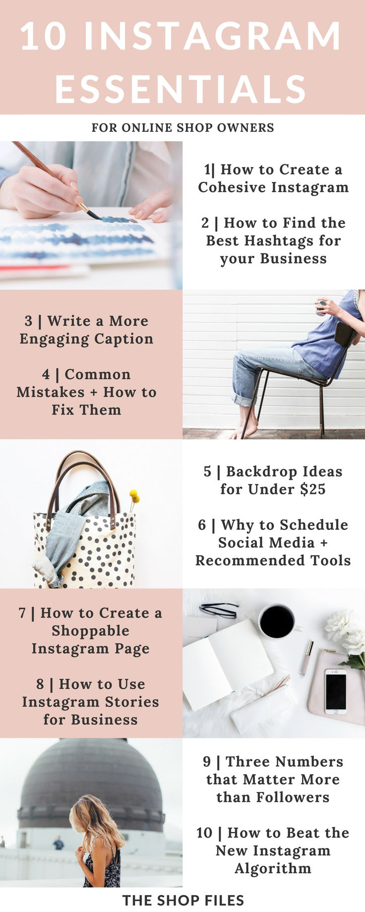 There's more to Instagram than popular hashtags and follow/unfollow methods. Learn 10 actionable Instagram Tips for Business to grow your account today with the best hashtags for Instagram for your business and Instagram tips + tricks to increase followers