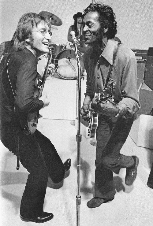 indypendent-thinking:  John Lennon and Chuck Berry