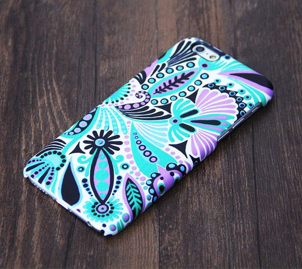Turquoise Green Floral iPhone 6 Plus/6/5S/5C/5/4S/4 Protective Case – Acyc