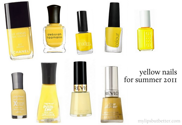 yellow nail polish for yellow themed party