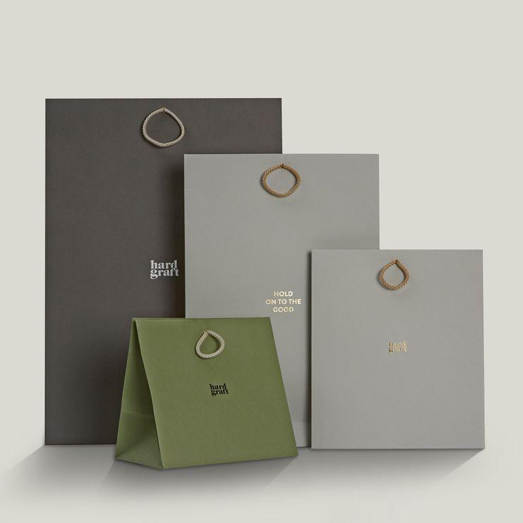 Progress Packaging HardGraft Luxury Fashion Retail Carrier Bags Cord Handles Range Colorplan Foiling