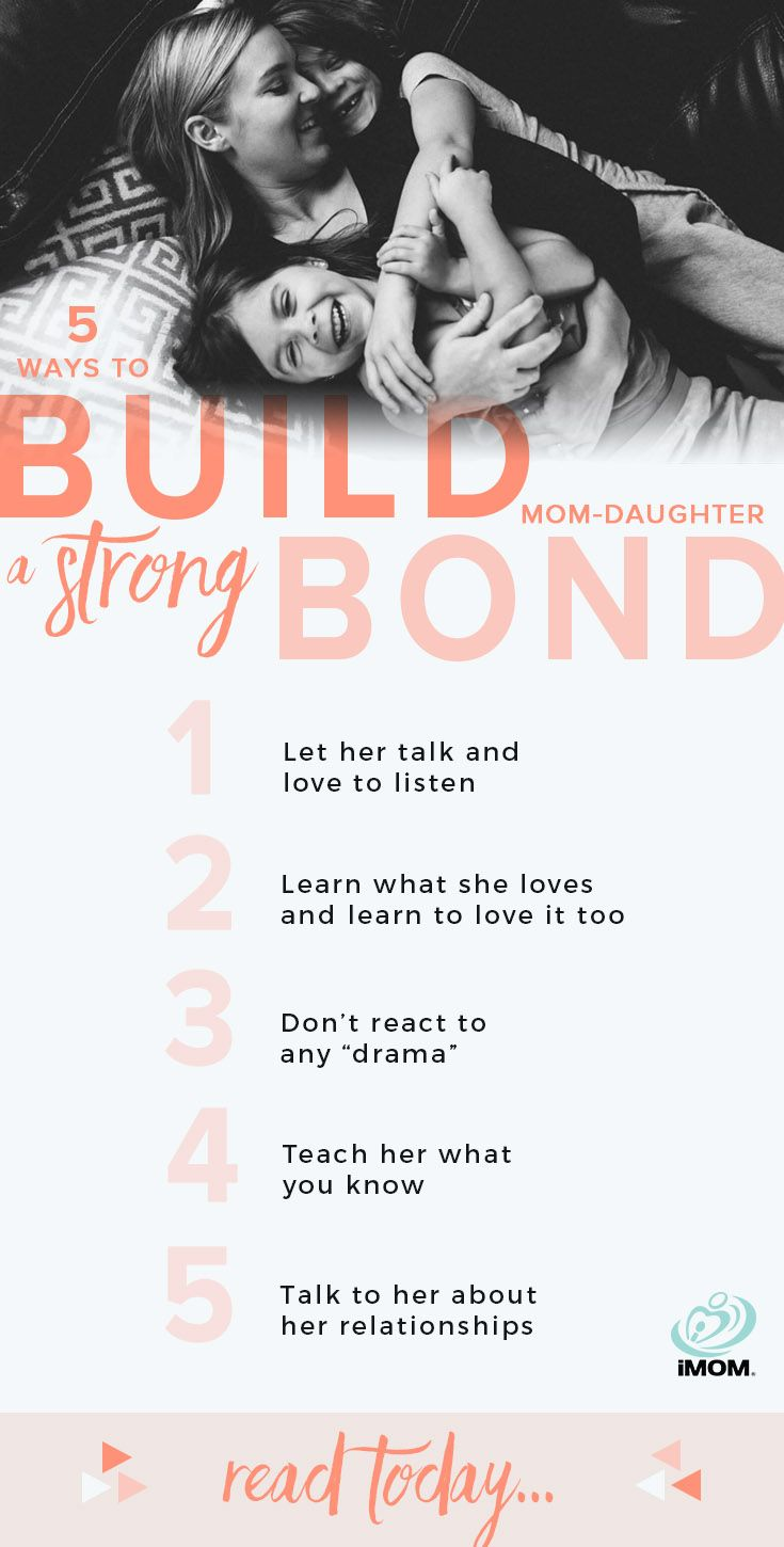5 Ways To Build A Strong Mom-Daughter Bond