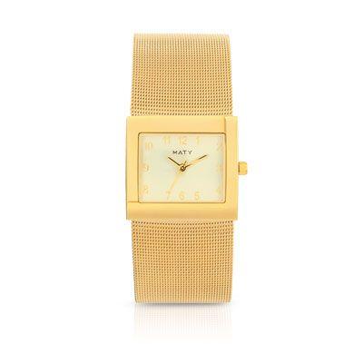 #MONTRE femme bracelet métal doré #MATY #Bijoux - www.maty.com
