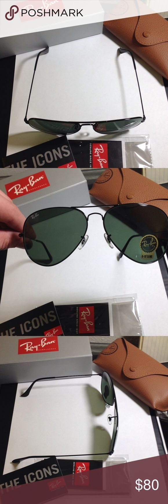 Ray-Ban 3026 L2821 Aviator, 62-mm, Black Large Imported RAY BAN 3026 AVIATOR BLACK FRAME RB 3026 L2821 62mm GREEN G-15 SUNGLASSES LARGE Condition: New with tags: A brand-new, unused, and unworn item (including handmade items) in the original packaging Gender: Unisex Protection: 100% UV400 Brand: RAY BAN Lens Technology: G-15XLT Style: Aviator Country of Manufacture: Italy Frame Color: Black Made In: Italy Lens Color: GREEN G-15XLT Extra Light Weight Shipping to USA: Free Shipping To USA…