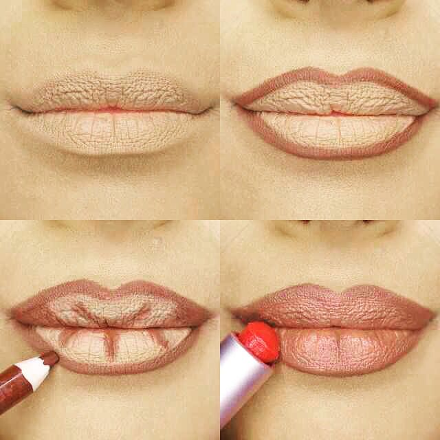 Some little tips and tricks on lip contouring for you ladies  If you haven't tri…