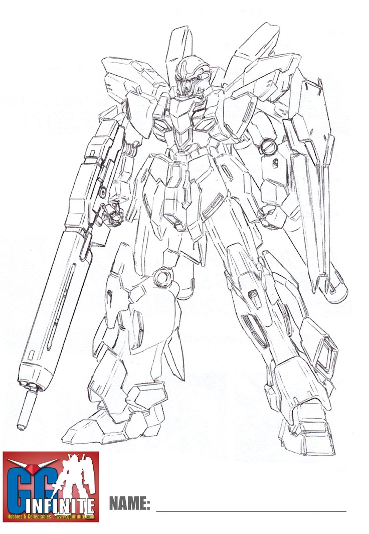 sinanju line art coloring pages - photo#1