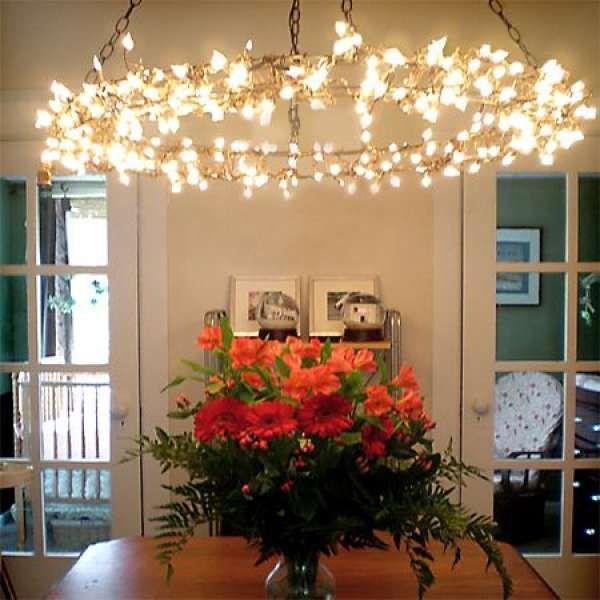 8) La lampe en ficelle Ces suspensions se trouvent dans la plupart des magasins spécialisés alors qu'il vous est très facile de les fabriquer vous-même! Ce site vous donne les principales étapes de réalisation. 9) Un luminaire totalement récup» Vous n'avez sûrement jamais pensé à transformer votre vieille échelle en luminaire? Vos invités vont être...