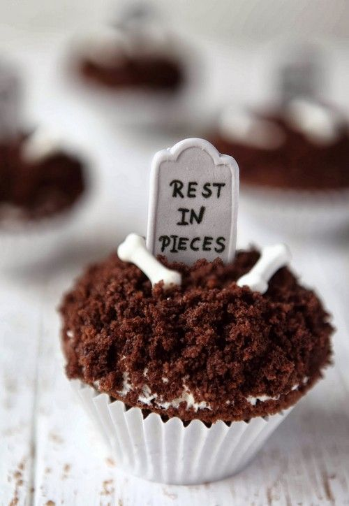 Black Forest Grave RIP Cupcake