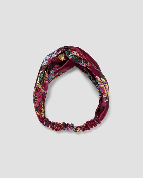 Bilde 1 fra HÅRBÅND I JACQUARD MED BLOMSTER fra Zara