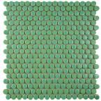 Merola Tile Comet Penny Round Capri 11-1/4 in. x 11-3/4 in. x 9 mm Porcelain Mosaic Tile FSHCOMCP at The Home Depot - Mobile