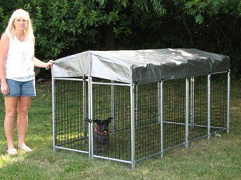 Outdoor Dog Kennels - The Quick-Kennel Portable Kennel by Options Plus Inc made in the USA.