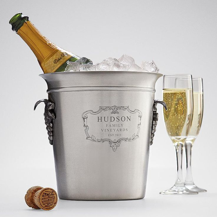 Best Wine For Wedding Gift: Personalizable Chateau Wine Bucket